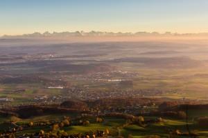 Alpes depuis le Jura