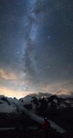 Solitude devant Piz Bernina